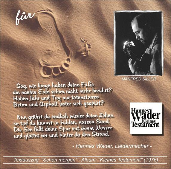 """CD-COVER: """"FOOTPRINTS - Spuren im Sand"""" K-sillermanfred2009foofnok"""