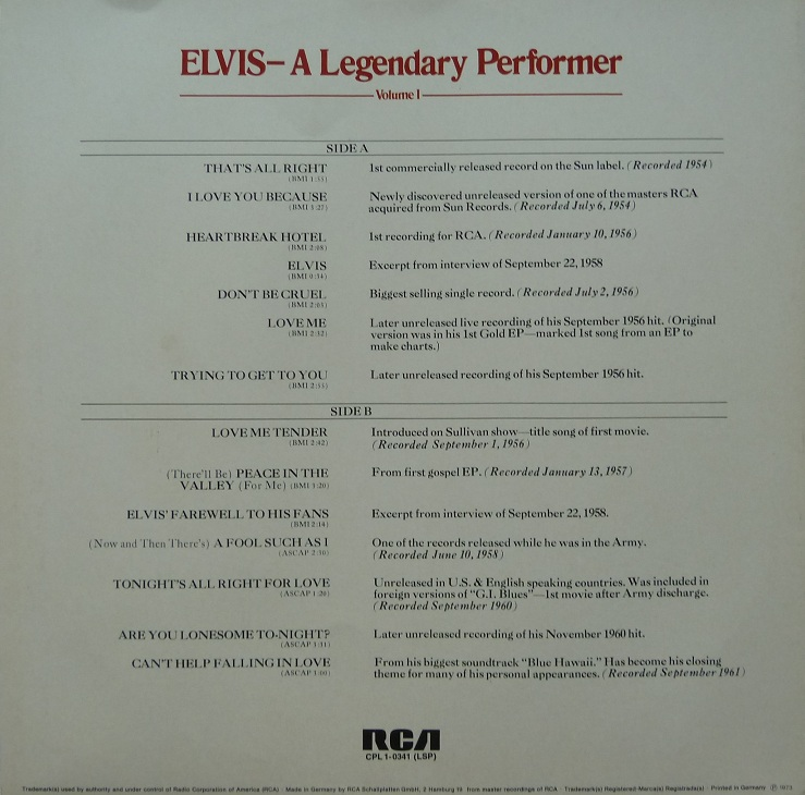 A LEGENDARY PERFORMER - VOLUME 1 Legendaryperfvol173inqxjut