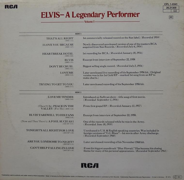 A LEGENDARY PERFORMER - VOLUME 1 Legendaryperfvol177rc6cji0