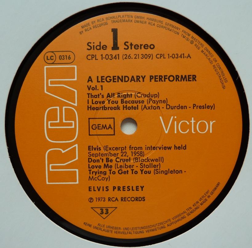 A LEGENDARY PERFORMER - VOLUME 1 Legendaryperfvol177sij6j53