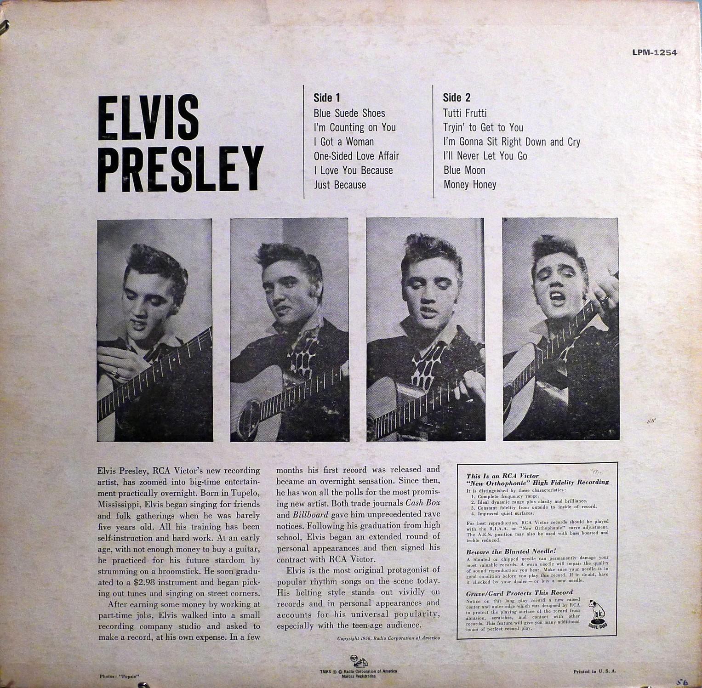 ELVIS PRESLEY Lpm1254bhaqxx