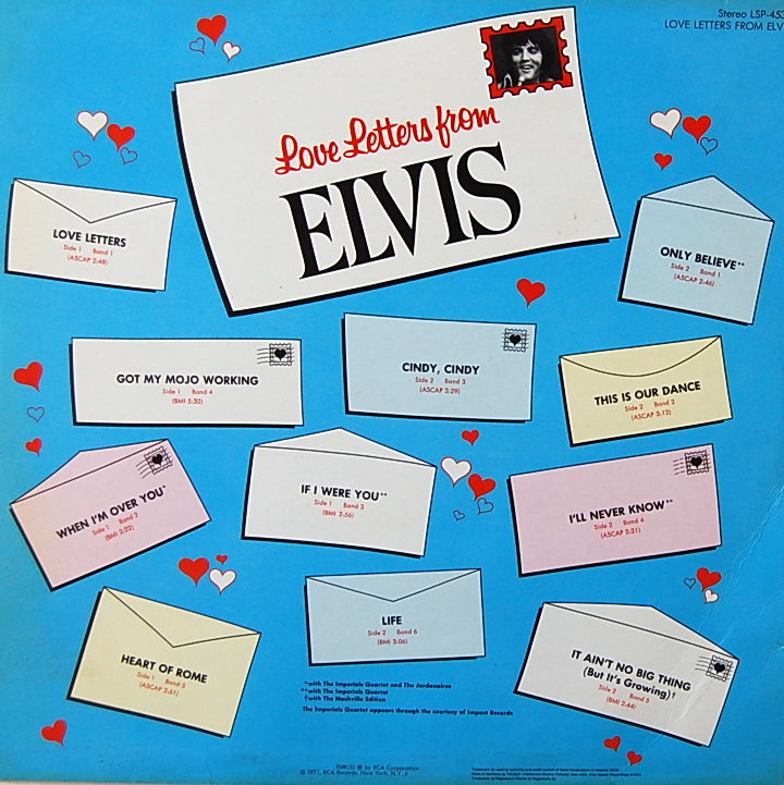 LOVE LETTERS FROM ELVIS Lsp4530-2p6c9i