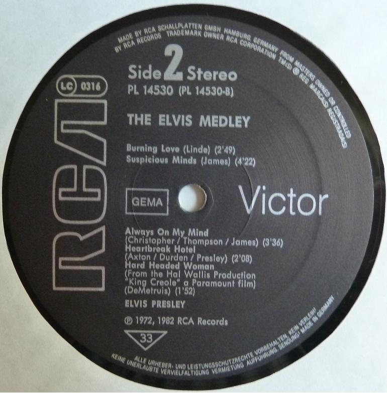 THE ELVIS MEDLEY Medleyside23qudo