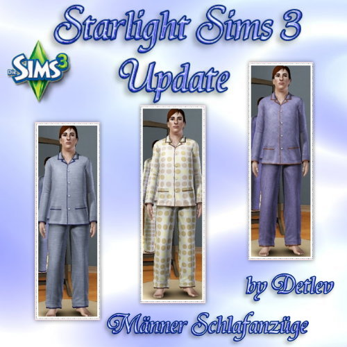 Starlight Sims 3 Update  Mnnerschlafanzge1dojje