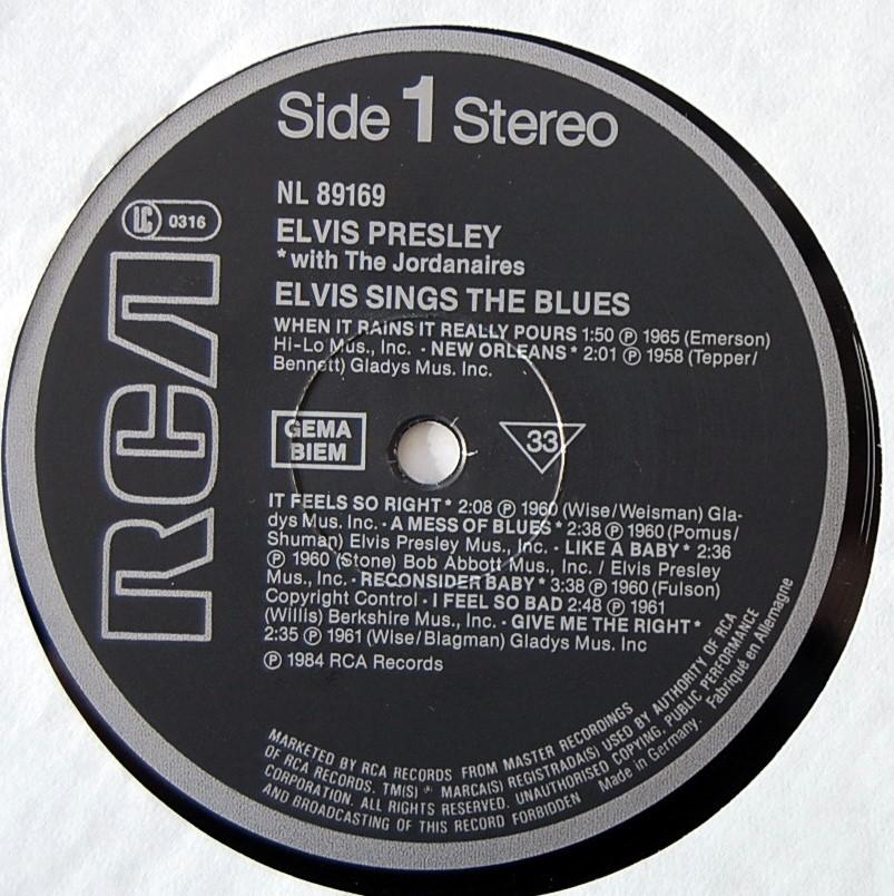 ELVIS SINGS THE BLUES Nl-89169-39qj2v