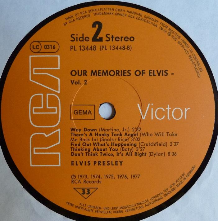 OUR MEMORIES OF ELVIS VOL.2 Omoevol2side2m4uxk