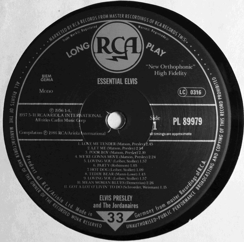 RCA LP-Label-Spiegel der Bundesrepublik Deutschland Sn5bub55