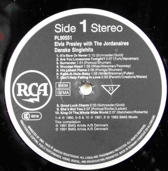 RCA LP-Label-Spiegel der Bundesrepublik Deutschland Sn95abor