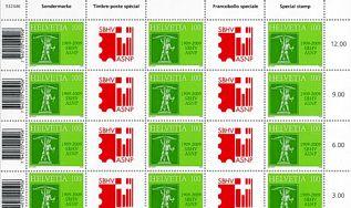 SBHV feiert in Rapperswil 100-Jahre-Jubiläum Sondermarke1315s10v