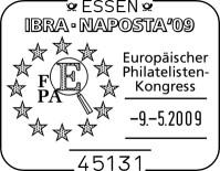 Internationalen Briefmarken-Messe in Essen vom 6. bis 10. Mai Sstfepakongress92dq