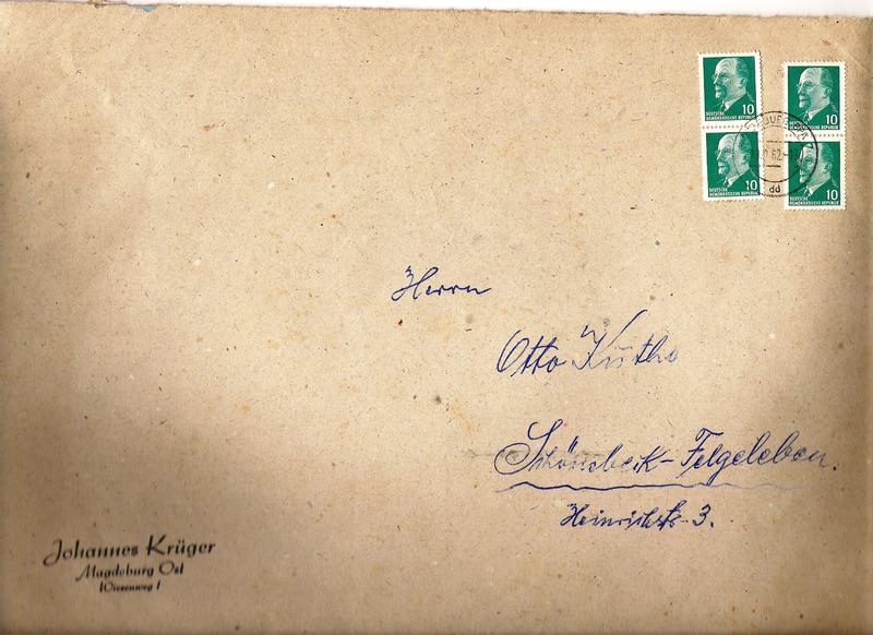 Schöne Briefe und Belege der DDR Ulbrichttxaus