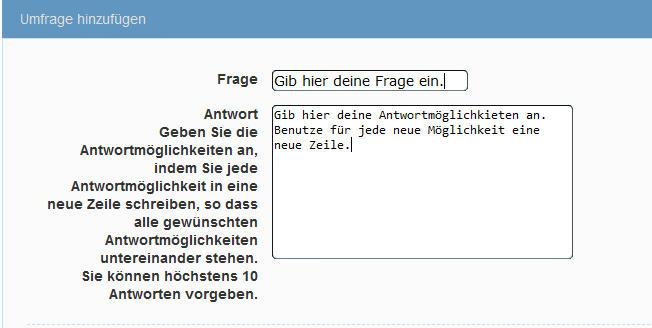 Forumtutorial's Umfragehinzufgennr7s