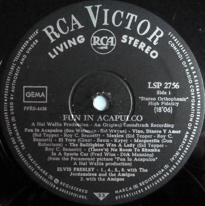 RCA LP-Label-Spiegel der Bundesrepublik Deutschland V1stereoihyan
