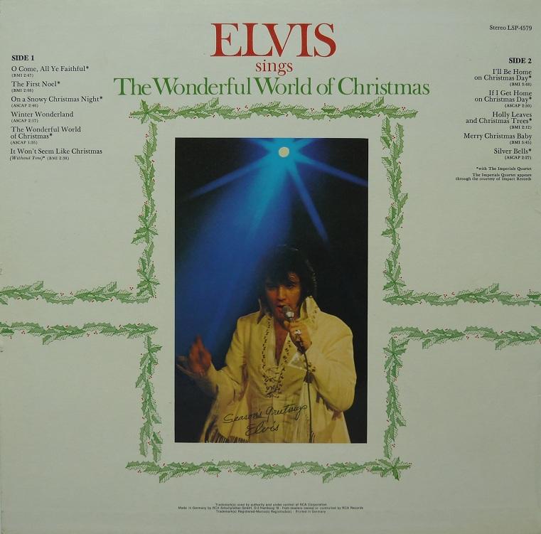 ELVIS SINGS THE WONDERFUL WORLD OF CHRISTMAS Wonderfulworldofchrisj6xkw
