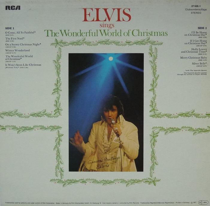 ELVIS SINGS THE WONDERFUL WORLD OF CHRISTMAS Wonderfulworldofchrispspxy