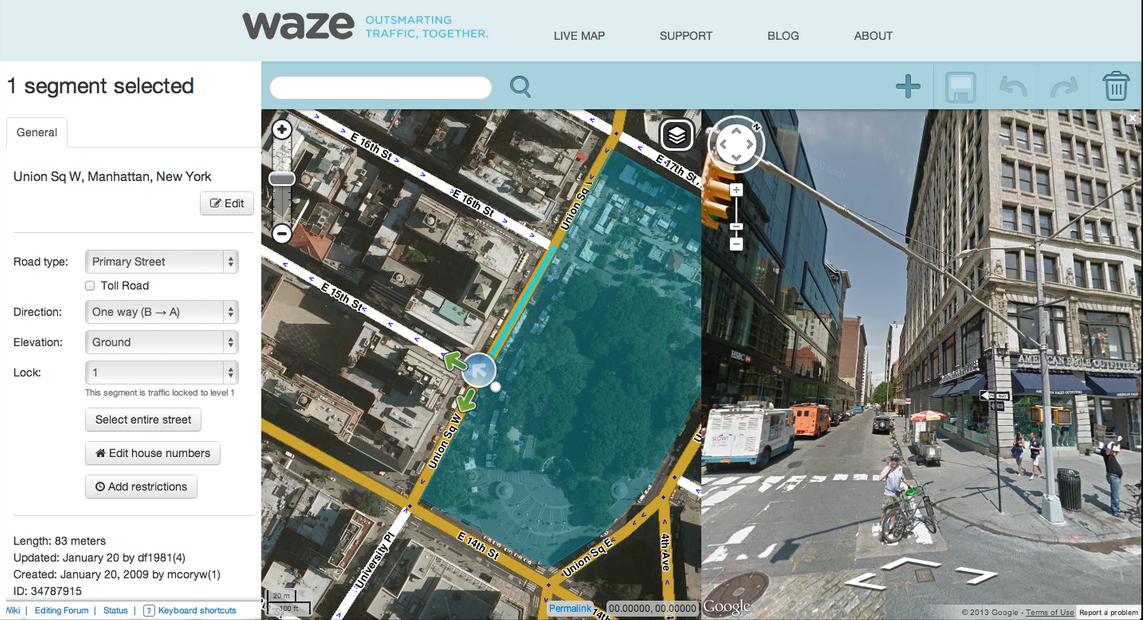 [INFO] Google Maps intègre Waze, spécialiste de la cartographie communautaire [22.08.2013] Waze-map-editor