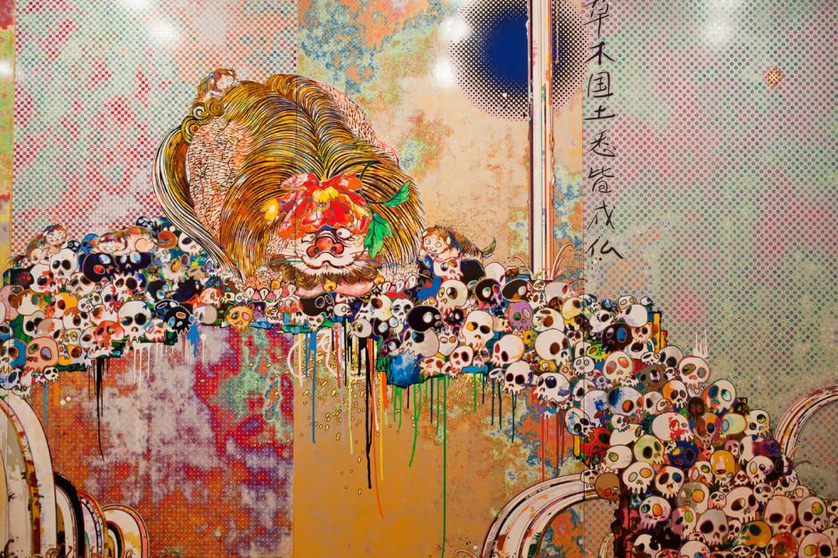 Takashi Murakami - Page 2 Takashi-murakami-flowers-amp-skulls-exhibition-gagosian-gallery-hong-kong-recap-6