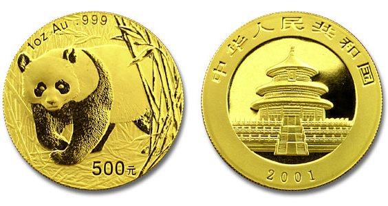 L'hégémonie du dollar contestée par la Chine Piece-1-once-or-panda-chinois