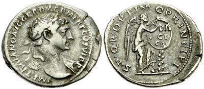 Denario de Trajano. S P Q R OPTIMO PRINCIPI - DA/CI/CA. Victoria. Ceca Roma. 939734.m