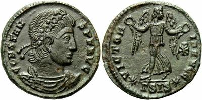 AE4 de Constante. VICTORIA AVGG. Siscia 1048877.m