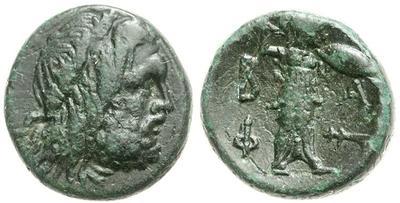 AE19 de Filipo V de Macedonia.  617732.m