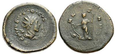 Antoniniano de cuño bárbaro de Tétrico II. 624807.m