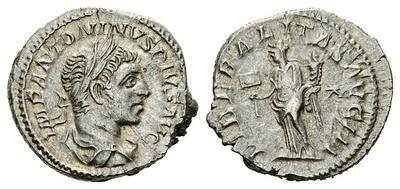 Denario de Heliogabalo. LIBERALITAS AVG III. Roma. 2026404.m