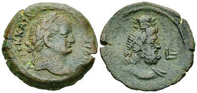 Diobolo de Vespasiano. Serapis. Alejandría. 2420667.m