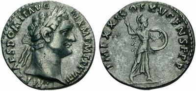 Denario de Domiciano. IMP XXI COS XV CENS PPP - Minerva. Roma 127988.m