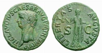 Moneda de Claudio. LIBERTAS AVGVSTA. Roma. 218074.m