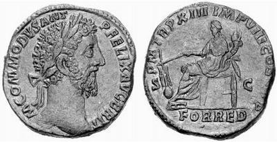 Sestercio de Cómodo. PM TR P XIII IMP VIII COS V PP / FOR RED / SC. Roma 391078.m