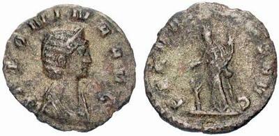 Denario de bronce de Salonina. FECVNDITAS AVG. Roma. 458189.m