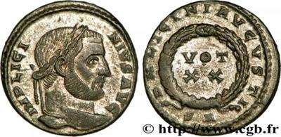 AE3 de Licinio I. Votivo. Arlés. 1039808.m