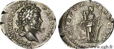 Denario de Septimio Severo. P M TR P VII COS II P P - Fortuna. Roma 45306.m