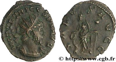 Antoniniano de Tétrico I. SALVS AVGG. Trier. 56353.m