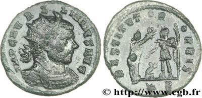 Antoniniano de Aureliano. RESTITVTOR ORBIS. Cycico  58094.m