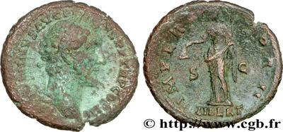 As de Antonino Pío. IMPERATOR II. Libertas. Roma. 61424.m