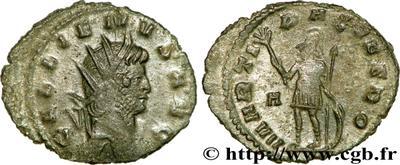 Antoniniano de Galieno. MARTI PACIFERO. Roma 65219.m