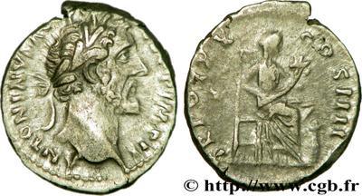Denario de Antonino Pío. TR POT XX COS IIII. Annona. Roma. 65867.m