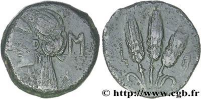 AE16 de Cesarea-Iol. 3 Espigas. (Mauritania) 354414.m