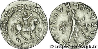 Tetradracma de Azes II. 384865.m