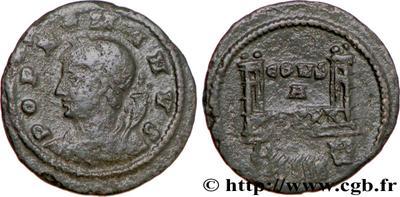 AE4 conmemorativa del pueblo de Roma. Constantinopla. 464376.m