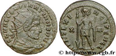 AE3 radiado de Constantino I. VIRT EXERCIT GALL. X | VI | RP. Roma 532059.m