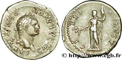 Denario de Domiciano. CERES AVGVST. Roma 608410.m