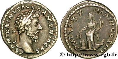Denario de Marco Aurelio. Anona. Roma. 608513.m