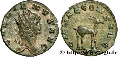 Antoniniano de Galieno. DIANAE CONS AVG. Roma 608786.m