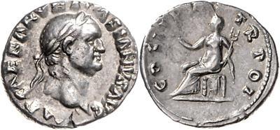 Denario de Vespasiano. COS ITER TR POT. Roma 1949922.m
