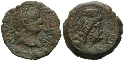 Diobolo de Vespasiano. Serapis. Alejandría. 2144401.m
