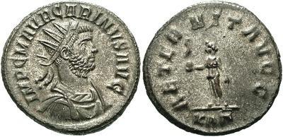Aureliano de Carino como augusto. AETERNIT AVGG. Roma 10784.m