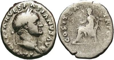 Denario de Vespasiano. COS ITER TR POT. Roma 11153.m